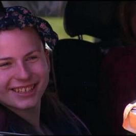 Justina, all smiles, driving out of the Susan Wayne Facility